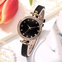 Wristwatches Vintage Women's Watches Casual Small Leather Quartz Luxury Rhinestone Ladies Woman Dress Watch Relogio