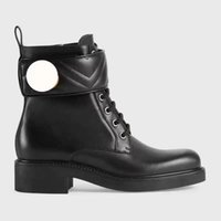 2021 Women boot cowhide designer Boots Martin boots1 The bottom of thes joint thick with combat bootss omens military sexy Winter designers Shoes keep warm
