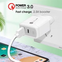 Type-C 20W PD and QC 3.0 Fast Wall CellPhone Charger with US EU UK Plug for IPhone Xiaomi Huawei Mobile Phone