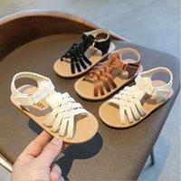 Дети летние мягкие дна тканые туфли 1 2 3 4 5 6 лет детские девушки принцесса платье сандалии детские римские сандалии 21-30