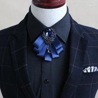 جودة متفوقة ارتداء الرسمي الماس القوس التعادل المد الرجال الزفاف العريس طوق القوس التعادل 1