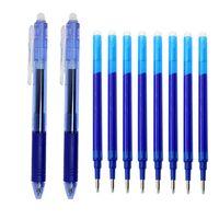 젤 펜 0.5mm 투명 마술 지우기 펜 프레스 세트 빨 수있는 핸들 리필로드 블루 / 블랙 잉크 학교 쓰기 편지지