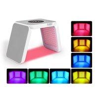Foldable Tri-folding 7 Colors LED light therapy machine pdt photon rejuvenation beauty instrument face lifting skin anti-aging home use