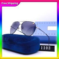 고품질 디자이너 사각형 선글라스 남성 여성 빈티지 그늘 운전 편광 된 선글라스 남성 태양 안경 패션 금속 판자 안경 상자