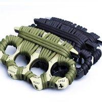 Maça Knuckle Dusters Metal Alaşım Pirinç Knuckles Öz Savunma Aracı Kişisel Güvenlik Ekipmanları Demir Yumruk Boks Eldiveni 1702 Z2