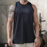 Men Bodybuilding Tank Tops Gyms Workout Fitness Cotton Sleeveless Shirt Running Clothes Stringer Singlet Male Summer Casual Vest