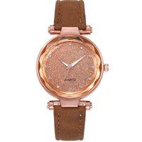 Casual Starry Sky Assista Correia De Couro Colorido Silver Die Dial Dial Quartz Womens Relógios Delicate Senhoras Relógios de Relógios de Relógios Atacado