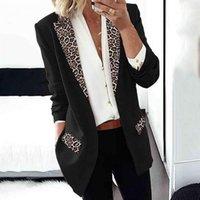 Women's Suits & Blazers Trend Women Lapel Leopard Print Jacket Fashion Autumn Winter Long Sleeves Blazer Coat Lady Office Casual Elegant