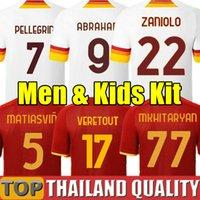 2019 AS Roma DZEKO PEROTTI PASTORE ZANIOLO Fußballtrikots 19 20 TOTTI DE ROSSI Rome Fußball Trikot gesetzt 2020 Männer Kinder Kit Uniform
