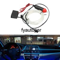 Light Strips Flexible Neon EL Wire Decorative Lamp Car 12V LED Cold lights Car styling 2m Interior Decoration Auto Lamps