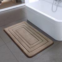 Embossing Coral velvet bedroom Rug Solid colors High quality floor Mats sponge Non-slip bath mat