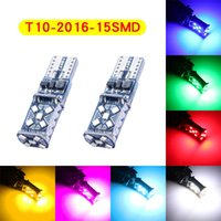 20Pcs Lot T10 W5W 2016 15SMD Canbus Error Free LED Bulbs For Clearance Lamps Car Interior Dome Lights Wide Voltage 12V 24V