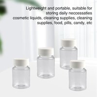 Storage Bottles & Jars 4pcs Candies Makeup Thickened 50ml Container Plastic Bottle Swivel Lid Wide Mouth Disposable Empty Refillable Pills