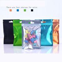 Borsa mylar con cerniera richiudibile colorata a lato 8.5 * 13 cm 9 * 15 cm 10 * 18 cm foglio di alluminio odore borse a prova di sacchetti di gioielli
