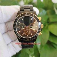 BP Maker Top Calidad Relojes Perpetuo 40mm Cosmograph 18k Oro Caso de PVD negro CAL.4130 Movimiento Transparente Mecánico Mensaje Mens Reloj Reloj de pulseras para hombre