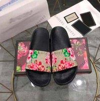 2021 Femme / Homme Sandales Quality Chaussons élégants Mode Classics Sandal Hommes Femmes Slip-Slip-Plat Chaussures Tige UE: 35-45 avec boîte à chaussures02 09