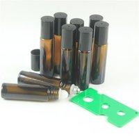 200pcs lot 10ml Amber Roll On Roller Bottle for Essential Oils Refillable Perfume Bottle
