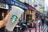 50 штук Starbucks 710 мл пластиковая чашка, многоразовая, прозрачная пьющая с плоской чашкой, колонна покрыта Sppy Cup, бесплатная доставка от Bardian