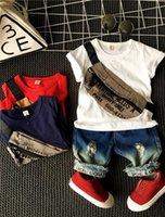 Jungen Sets von Kleidung für Sommeranzug Kurzarm T Sshirt Shorts 2 stücke Set Kleidung 2 6Years