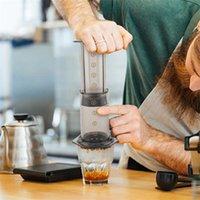 350 мл Новый фильтр стеклянный эспрессо кофеварка портативный кафе французский пресс Cafecoffee Pot для Aeropress Machine 372 V2