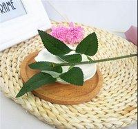 50 pz (25 cm) steli di rosa artificiale simulazione di foglie di stelo di plastica artificiale foglie di rose stelo di seta decorazione di nozze in seta in possesso di un fiore di rosa