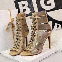 2022 المرأة اللباس أحذية الصنادل الترا عالية الكعب منخفضة أعلى بلون بلون المطاط الوحيد pu الاصطناعي بويلة الصيف العلوي ميزات الحياكة حزام أزياء بسيطة تنوعا
