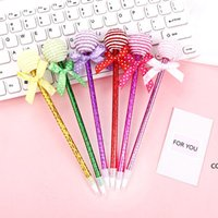 Lollipop Ballpoint Pen Flat Round and Spherical Two Shapes Candy Modeling Student Oil Pens Office Study Stationery Gifts DHE10553