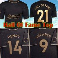 2021 2022 English Hall of Fame Jerseys 20 21 22 Henry Shearer Homens Kit Especial Emoldurado Comemorativo Edição Black Man Football Camisa Uniformes Preto
