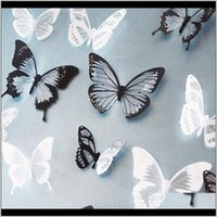 Stickers Décor & Garden Drop Delivery 2021 18Pcs Lot 3D Effect Crystal Butterflies Sticker Beautiful Butterfly For Kids Room Decals Home Deco