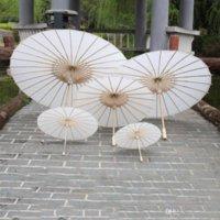 Braut-Hochzeits-Sonnenschirme weißes Papier-Regenschirm-chinesischer Mini-Craft-Regenschirm 4 Durchmesser 20 30 40 60 cm Hochzeit Regenschirme 4 Größen