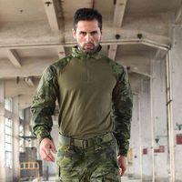 Trueguard Тактический ответ Униформа 1/4 ZIP рубашка Multicam Tropic 65/35 Poly Хлопок Ripstop Combat MTP