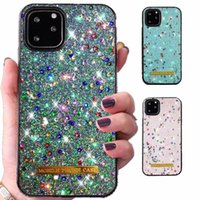 Cassa del telefono del diamante di bling luminoso per iPhone 11 12 Pro 6 7 8 Plus X XR XS Max Diamond Cover Cover Cover Colourful