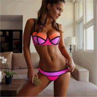 Sexy Bikinis Lady 2PCS Bathing Suit Summer Beach Swimwear New Women Joint Color Tankinis Printed Designer