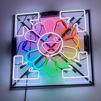 Takashi Murakami Neon علامة ضوء البيرة بار الحانة ريال زجاج أنبوب شعار الإعلان عرض 50CM 80CM DHL