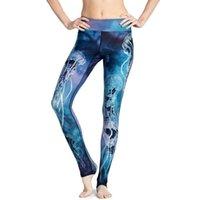Women's Leggings Jellyfish 3D Printed Sea Blue For Women Sporting Sexy Slim Pencil Pants Fitness Workout Leggins Capris