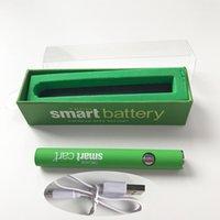 Smart 510-Thread-Batterie 380mAh Vorwärm-Vape-Batterien unten USB-Ladegerät VV-Variable Spannung E Ciagrette Grün Wachsstift Ölkassette