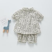 ZHBB INS Korean Australia Baby Girls Clothing Sets Summer Floral Tees with Shorts 2pieces Infant Toddler Outfits