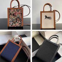 Borsa da donna Designer di lusso di alta qualità Mini stampa verticale stampa tessile borse in pelle di vitello donne borse a tracolla con borse a tracolla borse borse