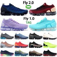 Moda Fly 2.0 1,0 Mens Running Sapatos Ginásio Azul Jaqueta Pacote Equipe Vermelho Triple Preto Branco Oxigênio Roxo Homens Mulheres Sapatilhas