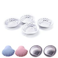 Strumenti della torta 4pcs 3D in lega di alluminio di alluminio Sea Shell Shape Bath Bomb Stampo Stampo per la cottura della pasticceria