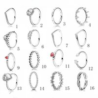 925 Sterling Silver Womens Diamond Ring Moda Jóias Casamento Noivado Anéis Para As Mulheres