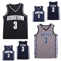 NCAA Jerseys Mens Georgetown Hoyas Igiverson College Jersey 3ai University Basketball usa Tamaño S-2XL entrega rápida