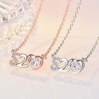 Pendant Necklaces LoveLink Romantic Letter 520 Zircon Crystal Necklace For Women Lover Choker Chain Jewelry Engagement Gift