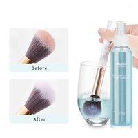 Limpador de escova de maquiagem líquida e secador de lavagem rápida de lavagem rápida spray compõem escovas limpeza folhada brochas maquillaje beleza ferramentas1