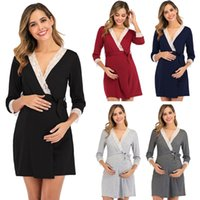 Maternity Dresses Loose Women Dress Pregnancy Mama Clothes Pregnant Breastfeeding Casual Clothing Knee Length
