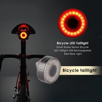 Bike Lights Bicycle LED Rear Tail Light Waterproof Safety Warning MTB Road Helmet Outdoor Backpack Lamp Bycicle