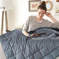 7 кг / 9 кг зимнее одеяло высокое качество толстого одеяла тяжело, чтобы уменьшить сенсорное беспокойство и стресс со стеклянными шариками Утешители устанавливаются