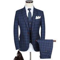 メンズスーツブレザーズLoldealブランドスリムティーンウェディングドレスフォーマルウェア服男性ビジネスカジュアルジャケット+ベスト+パンツサイズ5xl