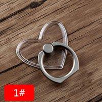 Универсальный держатель сотового телефона Clean Crystal Finger Ring Trip Holders Stents Прозрачный ПК 360 градусов Вращающаяся пряжка Стенд монтирования кронштейн в наличии