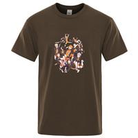 Karikatür Haikyuu Baskı T Shirt Yaz Voleybol Kısa Kollu Tişört Hip Hop Moda T-shirt Harajuku Erkekler T-Shirt Streetwear